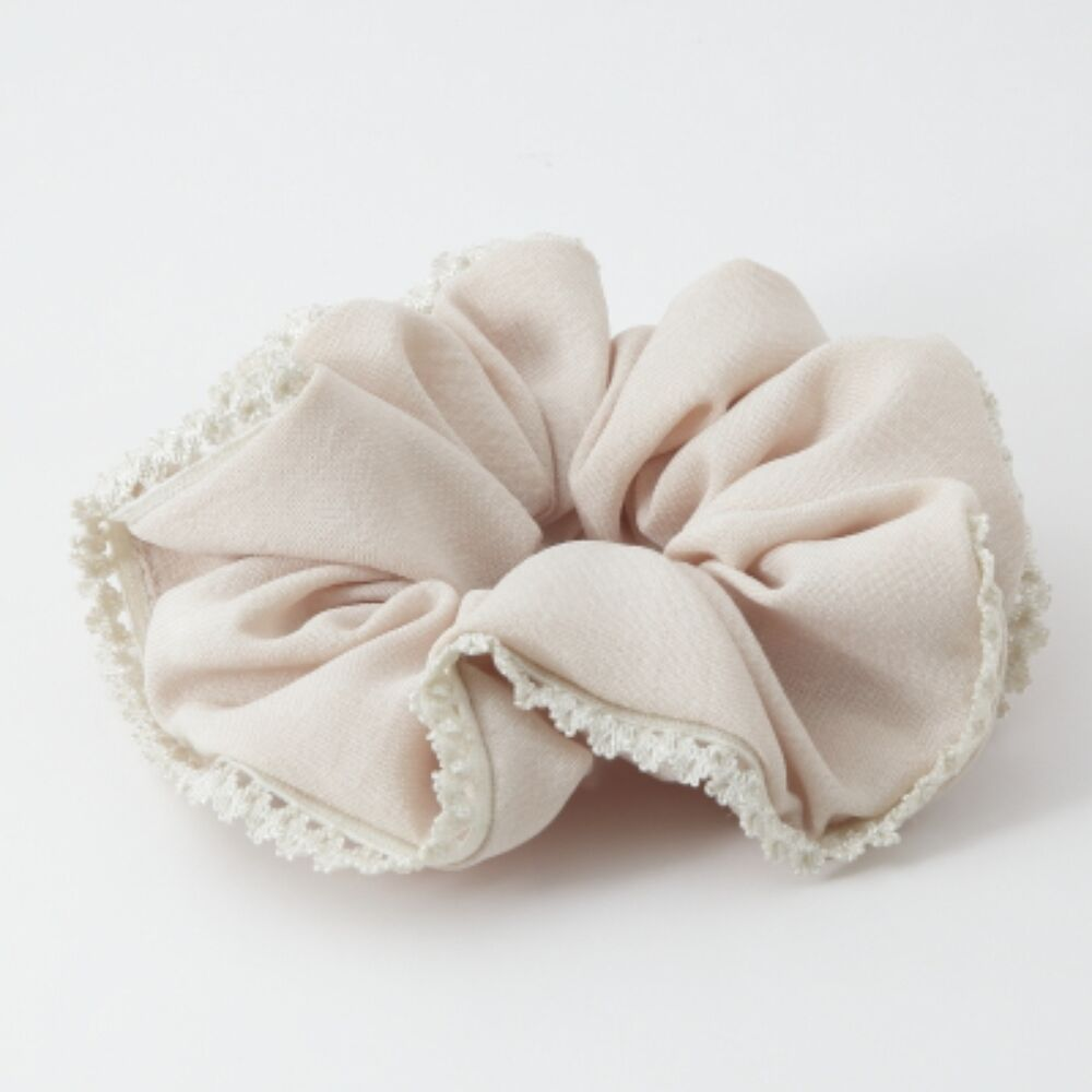 Floral Lace Trimmed Elastic Hair Band Scrunchies Ebay