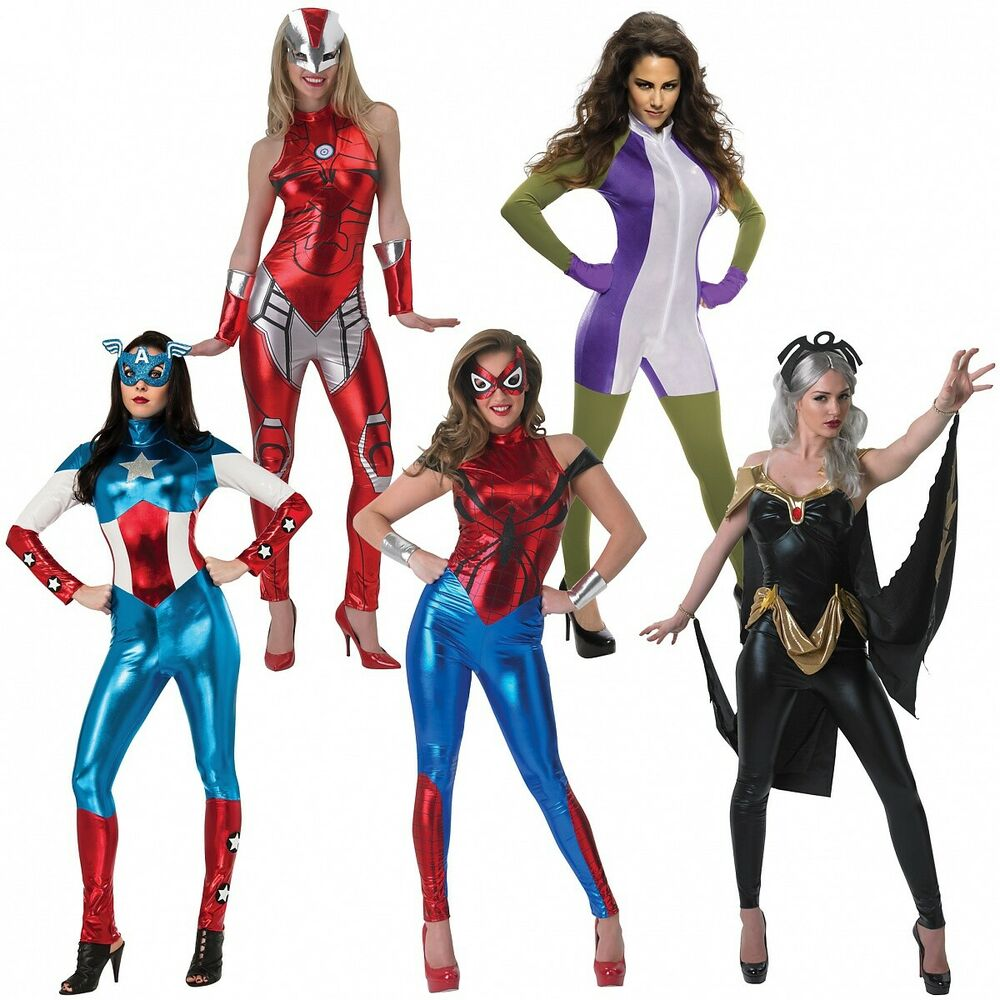 sc 1 st  eBay & Female Superhero Costume Adult Halloween Fancy Dress | eBay