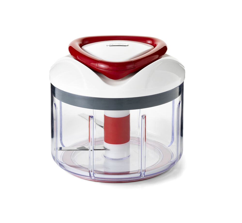 Manual Food Processor ~ Zyliss easy pull manual food processor and chopper red