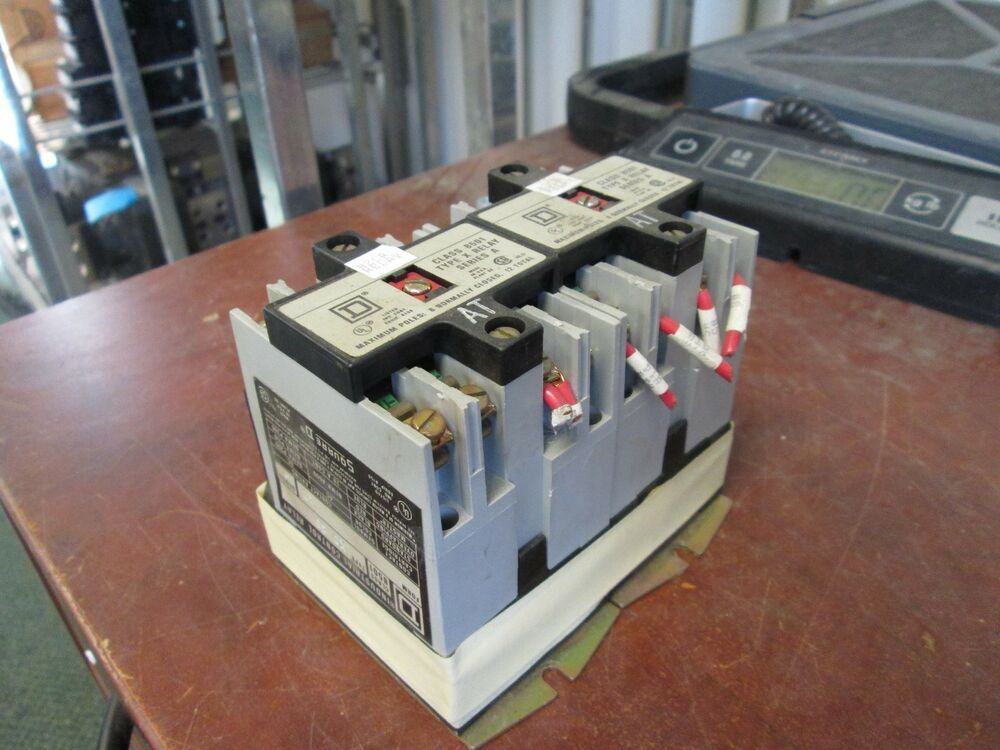 Square D Industrial Control Relay 8501 Xo 40 At 120v Coil  Lot Of 2  Used