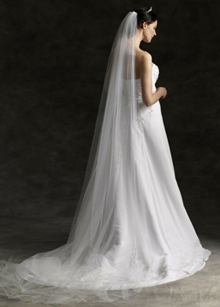Fashion Elegant 118 Inches Cathedral White Bride's Veil