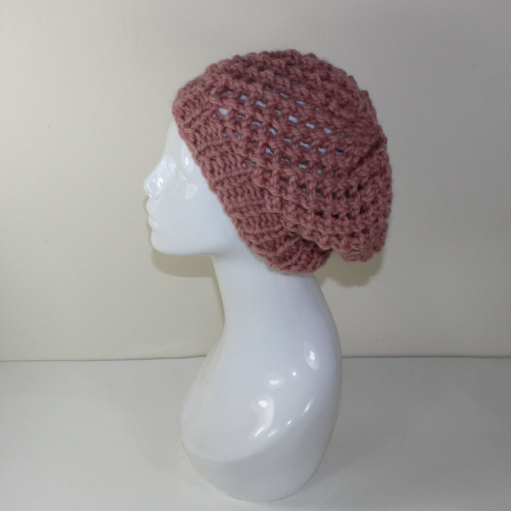 PRINTED KNITTING INSTRUCTIONS-SUPER CHUNKY LACE BERET HAT KNITTING PATTERN ...