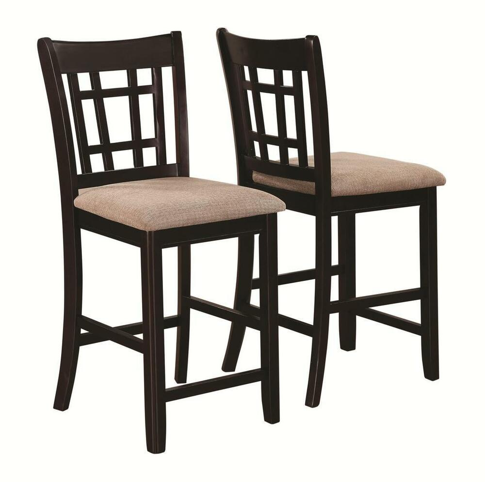 lattice back espresso counter height dining chair by coaster 105279