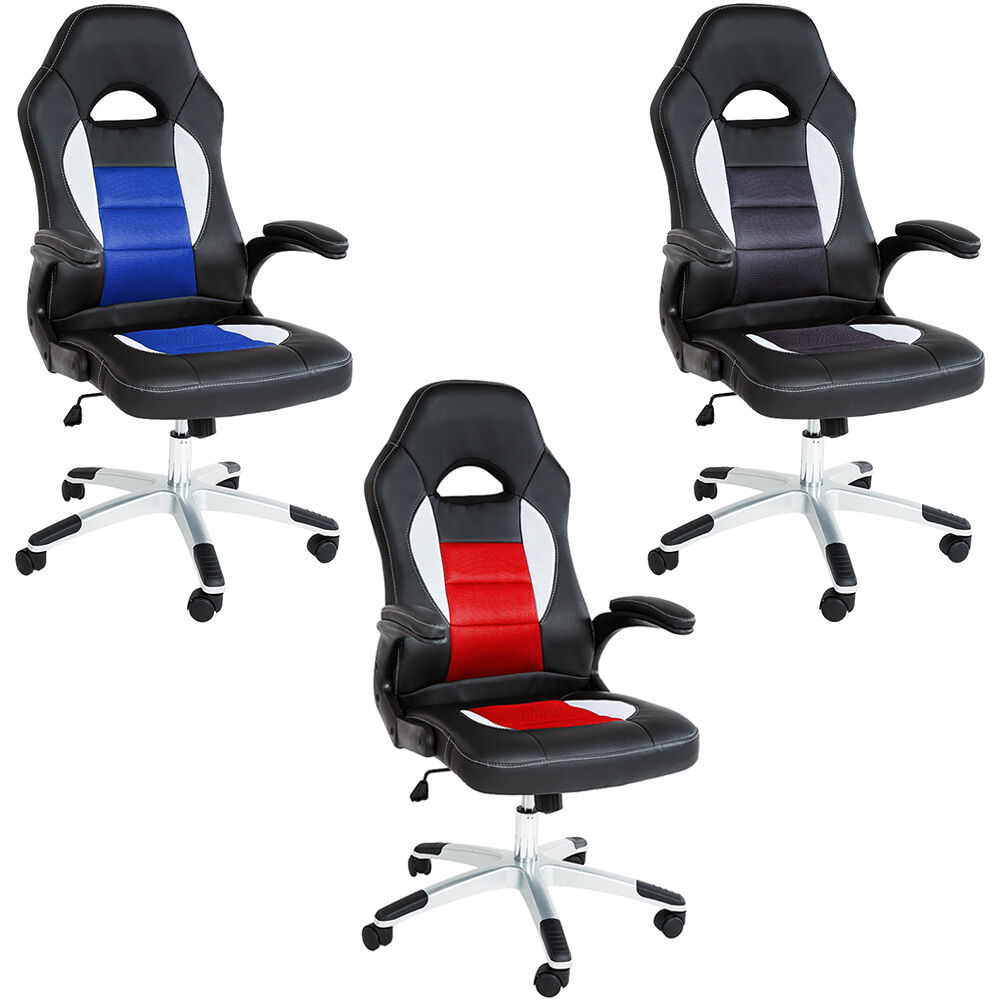 office chair racing car seat luxus computer reclining new ebay. Black Bedroom Furniture Sets. Home Design Ideas