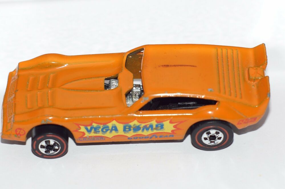 original hot wheels redline orange vega bomb funny car metal base hong kong ebay. Black Bedroom Furniture Sets. Home Design Ideas
