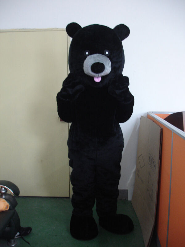 Professional Halloween Makeup Dallas: New Professional Black Bear Mascot Costume Fancy Dress
