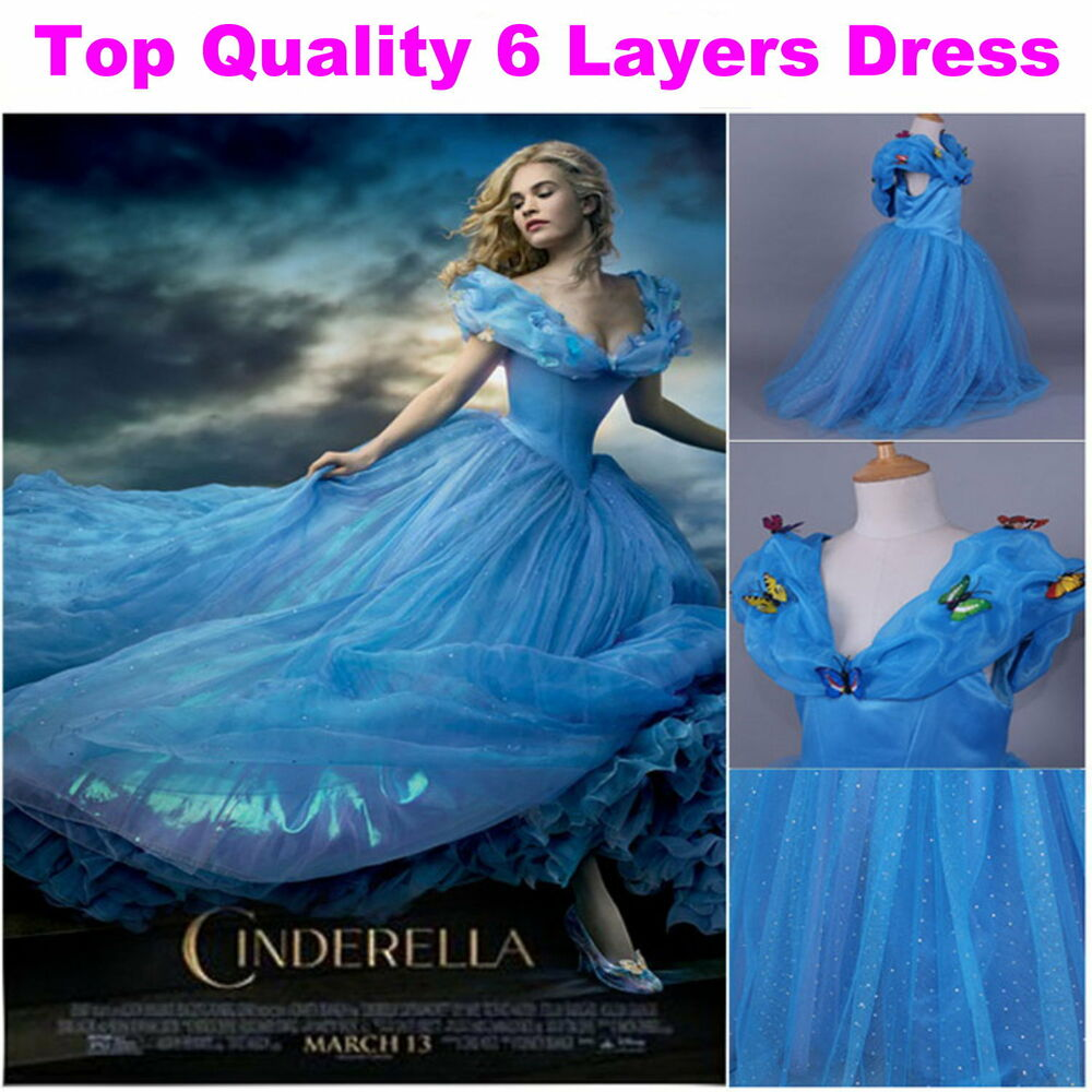 New Cinderella Dress Girls Princess Costume Pageant ...