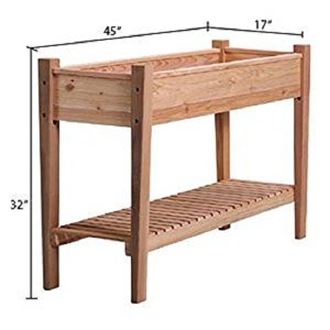 Raised Garden Bed Cedar Flower Elevated Vegetable Planter Herb Box