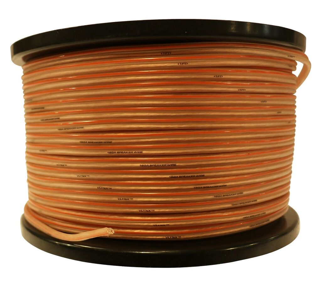 16 gauge 500ft speaker wire 16ga spool car installation quality vlynx cable ebay. Black Bedroom Furniture Sets. Home Design Ideas