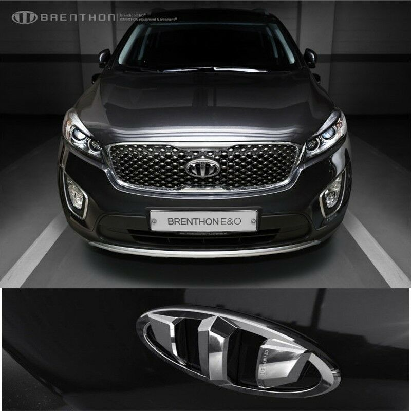 2017 Kia Sportage Transmission: BRENTHON Front & Rear NEW Emblem CHROME For KIA SORENTO