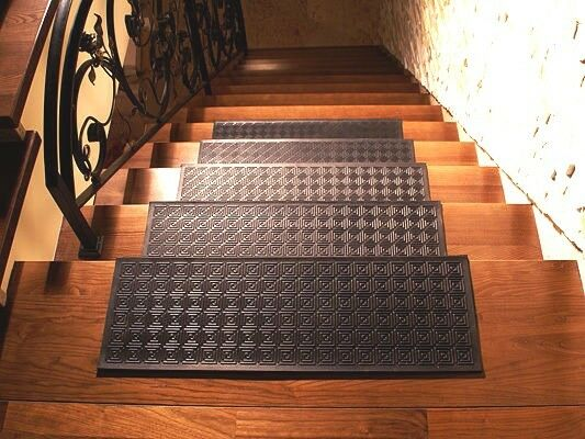 Anti Non Slip Rubber Stair Tread Treads Step Covers Mats