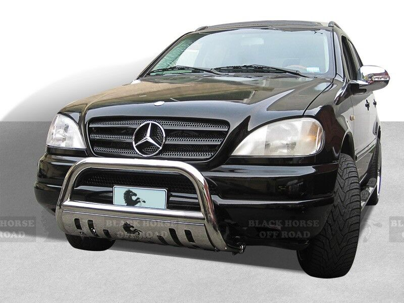 98 05 mercedes ml class ss bull bar bumper guard 3 led for Mercedes benz guard for sale