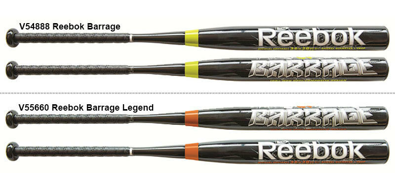 reebok 2013 barrage slow pitch softball bat drt 1 v54888