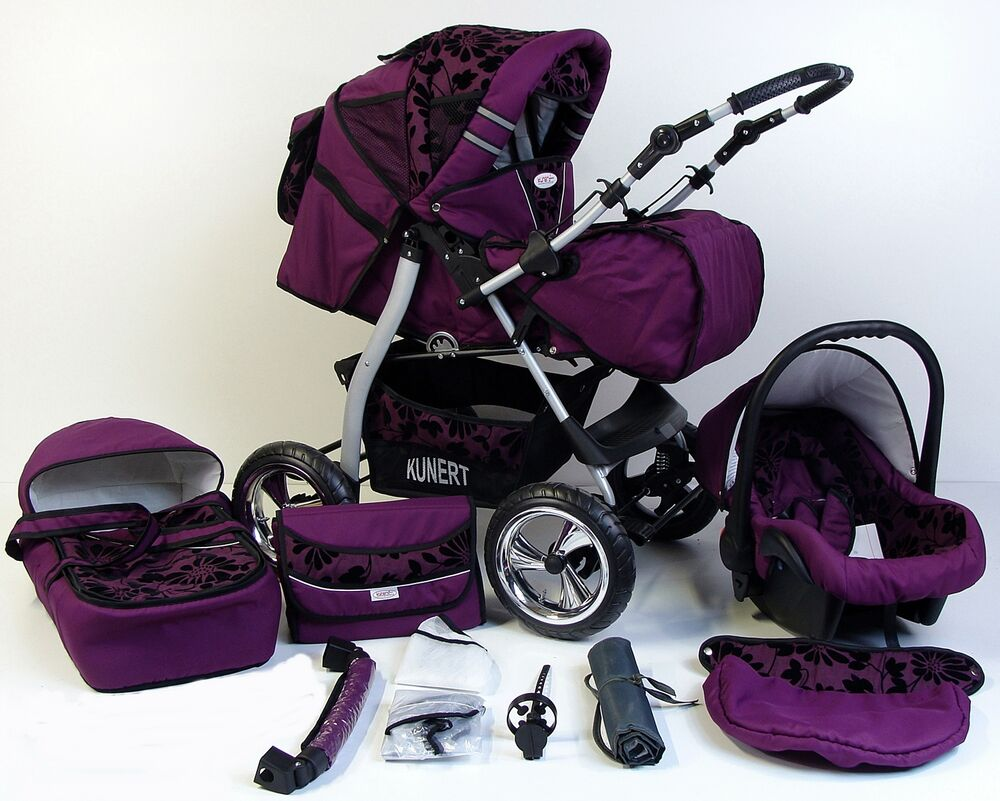vip 3in1 kinderwagen kombikinderwagen mit babyschale kinderwagen babywagen neu ebay. Black Bedroom Furniture Sets. Home Design Ideas