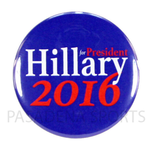 """Pin On Campaigns: 2016 HILLARY For PRESIDENT 2.25"""" PIN BACK CAMPAIGN BUTTON"""