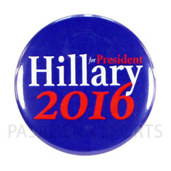 2016 HILLARY for PRESIDENT 2.25'' PIN BACK CAMPAIGN BUTTON, clinton blu