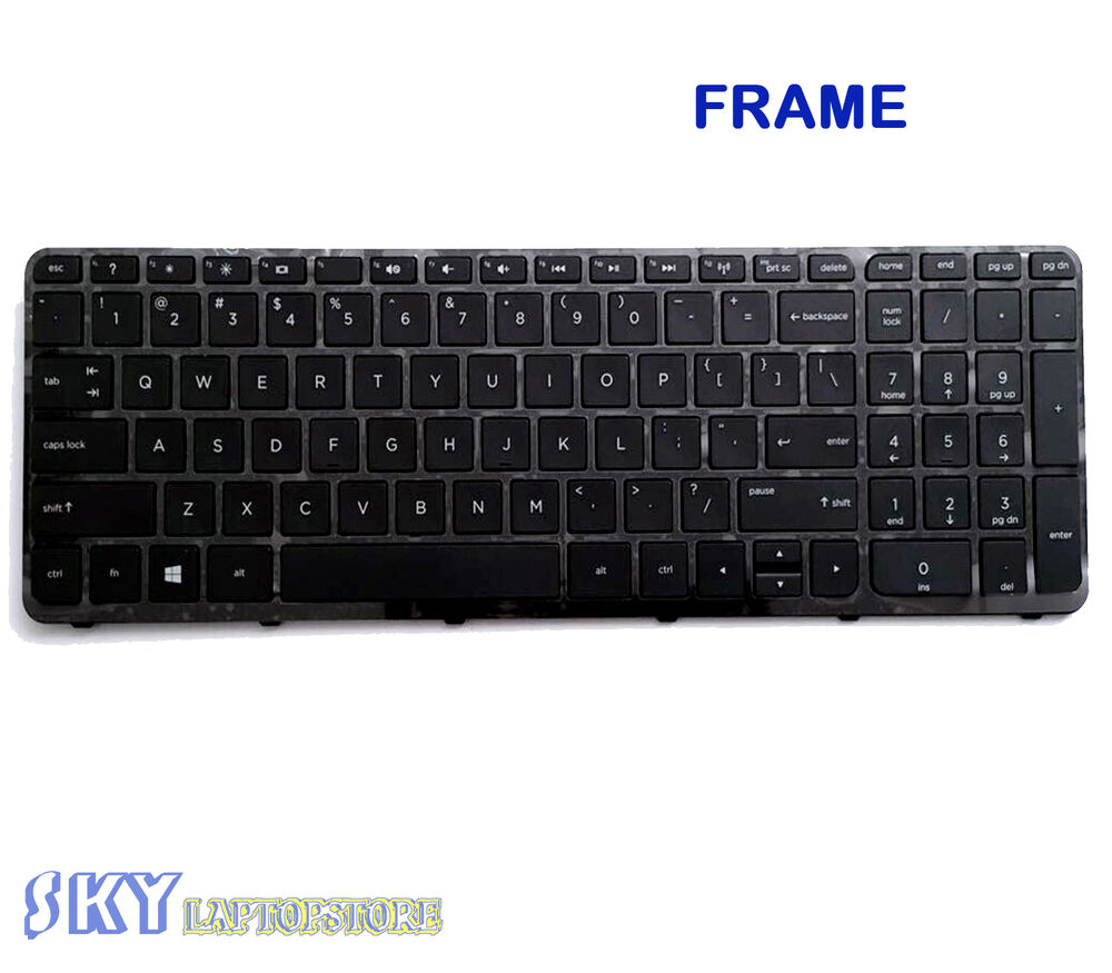 New Laptop Us Keyboard With Frame For Hp 15 R011dx 15