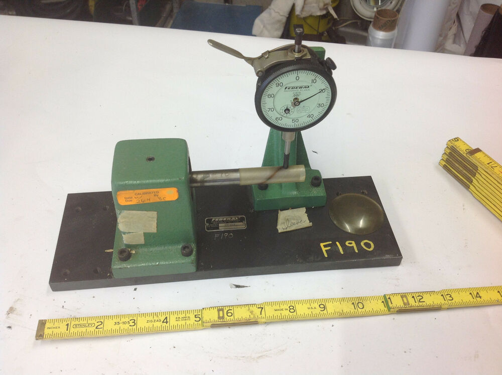 Federal Indicators Gages : Federal kb bench gauge roundness tester with c is dial