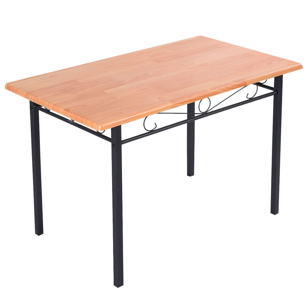 steel frame dining table kitchen modern furniture bistro home durable