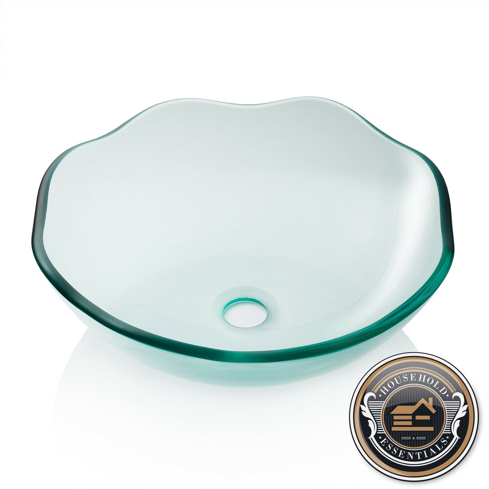 Round Bathroom Sink Bowls : ... Clear Vessel Bathroom Sink, Round Vanity Bowl Washroom Basin eBay