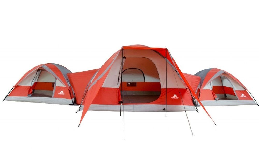New 10 Person 3 Connecting Tent Room Family Hiking Camping