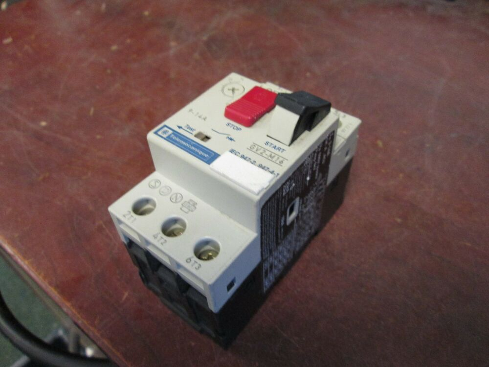 Telemecanique Manual Motor Starter Gv2 M14 Range 9 14a Used Ebay