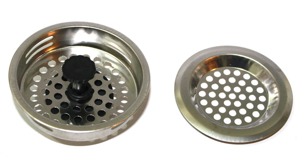2 PCS STAINLESS STEEL KITCHEN SINK Strainer and Stopper