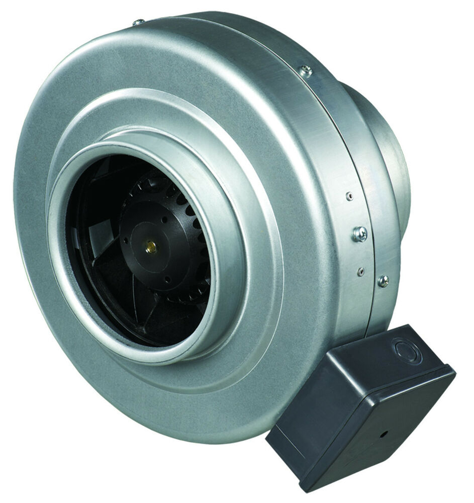 Centrifugal Duct Fan : Inline centrifugal metal ventilation fan compatible with