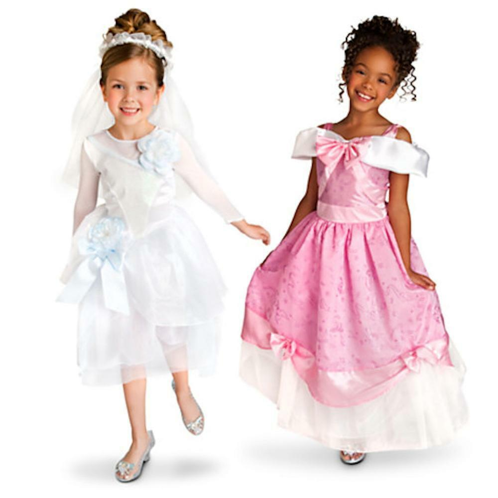 Princess Cinderella Wedding Dress Costume For: Wedding Gown + Party Dress Cinderella Costume Set 2