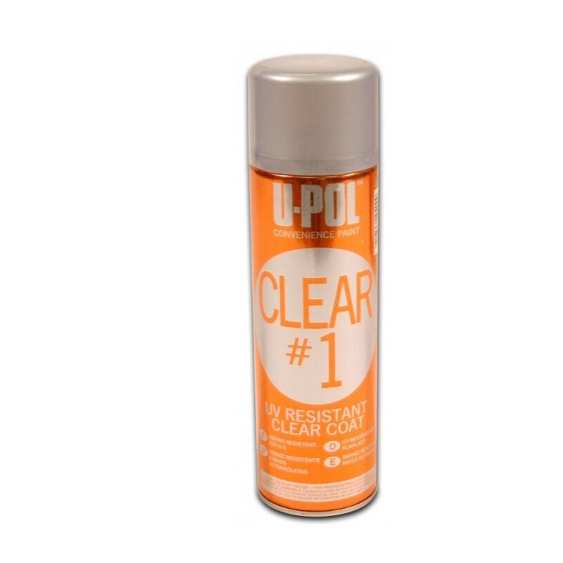 up0796 clear 1 high gloss clear coat aerosol spray can 450ml ebay. Black Bedroom Furniture Sets. Home Design Ideas