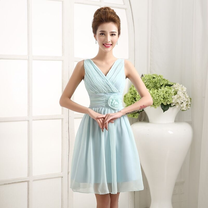 Women short cocktail party bridesmaid formal dress wedding for Formal summer dresses for weddings