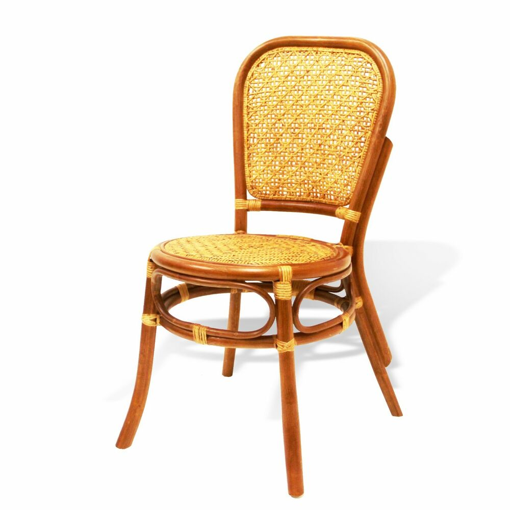 Rattan Dining Chairs: Timor Handmade Design Rattan Wicker Dining Armless Accent