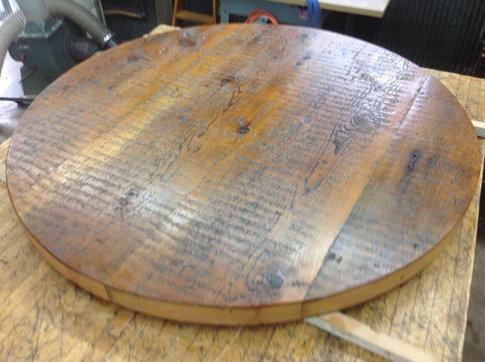 Country Rustic Reclaimed Barn Wood 40 Quot Round Tabletop Ebay