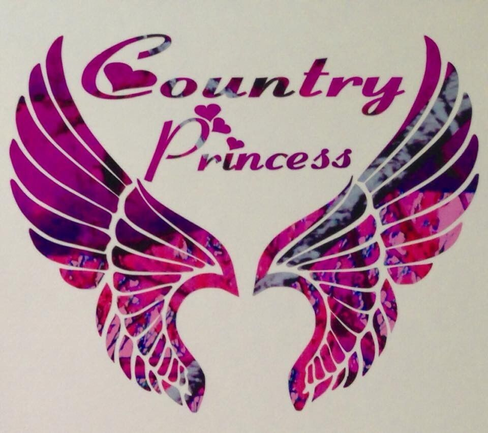 Pink Camo Wings Country Princess Truck Decal 5 Quot Wild Love