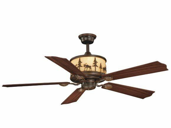56W Ceiling Fan Vaxcel Yellowstone Rustic Country Lodge Remote Light FN56305BBZ : eBay