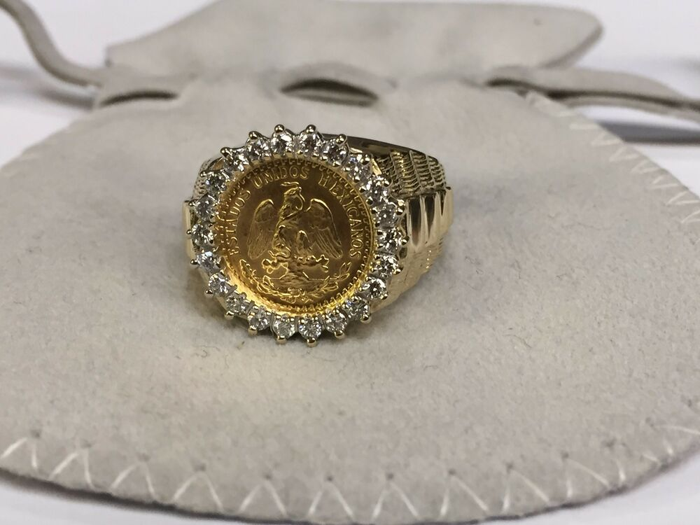 Peso Gold Coin Ring
