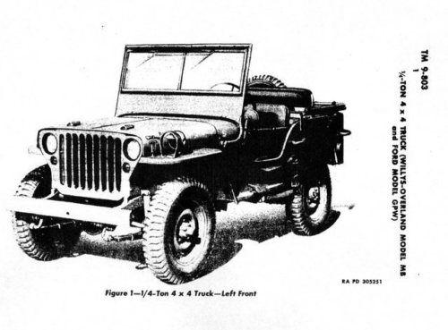 wwii manual army willys jeep model mb   ford gpw 1944