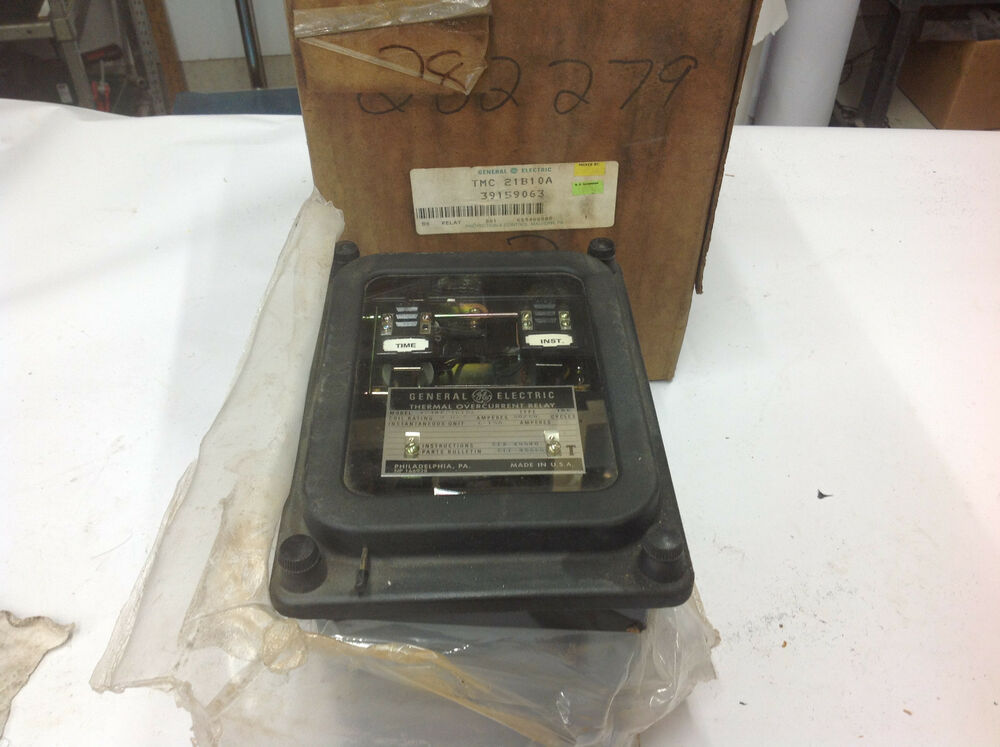 General electric ge 12tmc21b10a time thermal overcurrent for General electric ac motor thermally protected