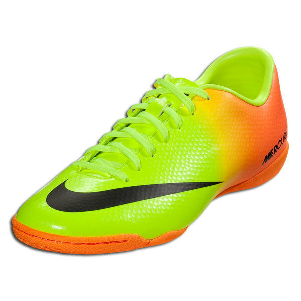 bd4ce5948d0 Details about NIKE MERCURIAL VICTORY IV IC INDOOR SOCCER SHOES FOOTBALL  Volt Bright Citrus Bla