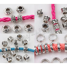 Wholesale Tibet Silver Disc Carved Loose Spacer Beads Charm Finging 5/6/8mm DIY