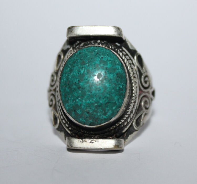 sterling silver rings ethnic wholesale turquoise gemstone