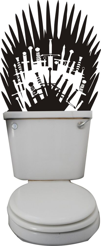 Game of thrones iron throne wall art sticker decal mural for Buy iron throne chair