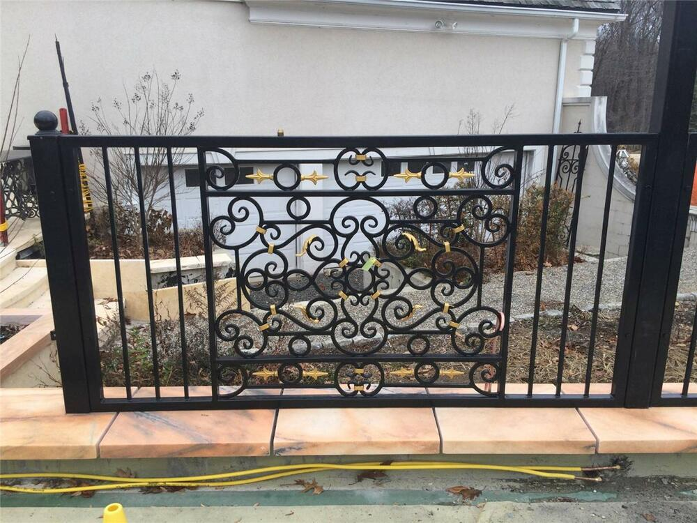 hand wrought custom iron fence panels wrought iron. Black Bedroom Furniture Sets. Home Design Ideas