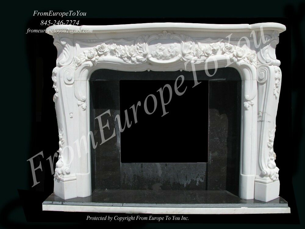 Cherub Hand Carved Marble French Style Fireplace Mantel Ebay