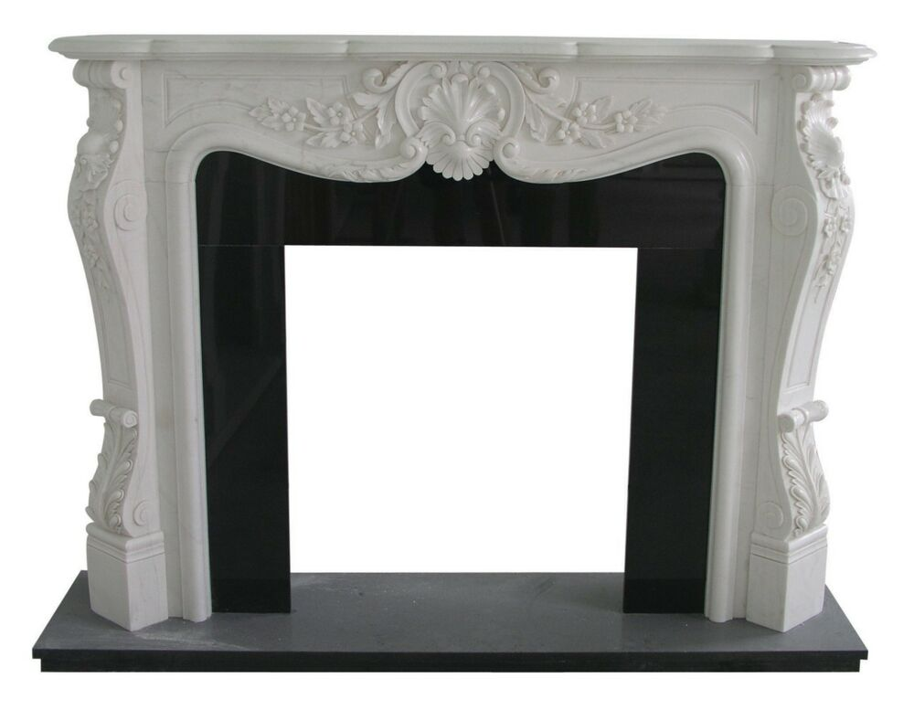 Hand Carved Marble French Style Fireplace Mantel Fp124 Ebay