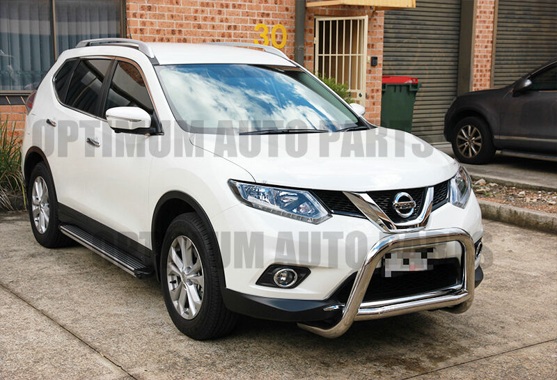nissan x trail t32 stainless steel nudge bar 2014 2017 ebay. Black Bedroom Furniture Sets. Home Design Ideas