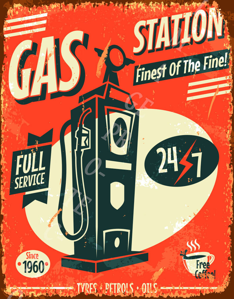 Vintage Full Service Sign - Nude Pic-6494