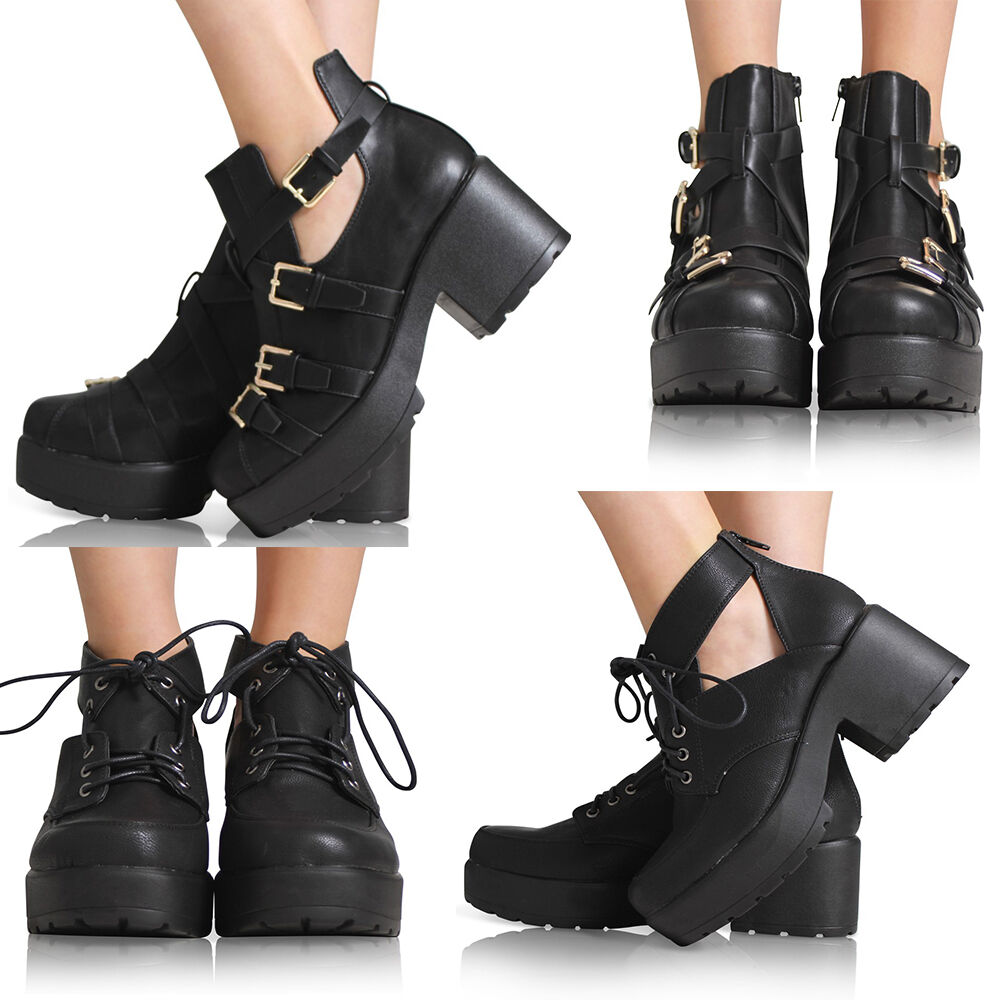 new womens cut out ankle block mid heel boot gold