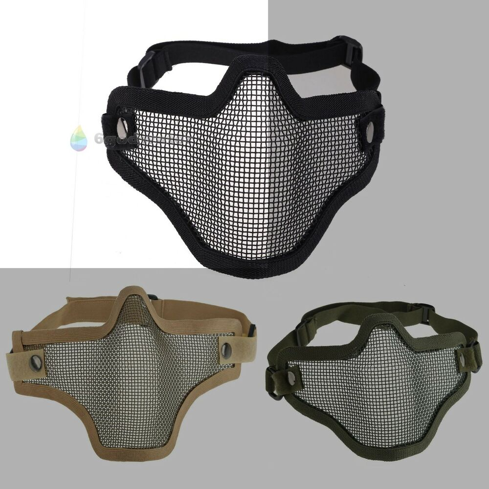 New Tactical Hunting Metal Mesh Airsoft Paintball ... Paintball Gear And Protection