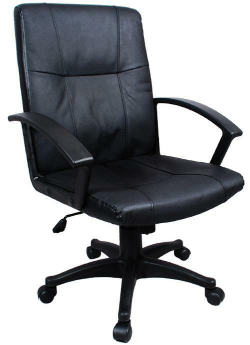 Executive Leather Office Chair Computer Desk Task Hydraulic | eBay